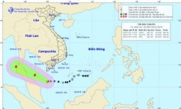 Typhoon Pabuk approaches Cape Ca Mau, risks of whirlwinds in southern region
