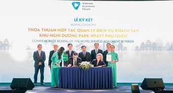 BIM LAND and HYATT make Agreement at Vietnam Travel and Tourism Summit 2019